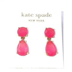 14K Gold Filled Hot Pink Drop Dangle Earrings